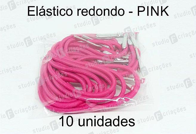 10 Elástico REDONDO pink com terminal para agenda (medida 23cm)
