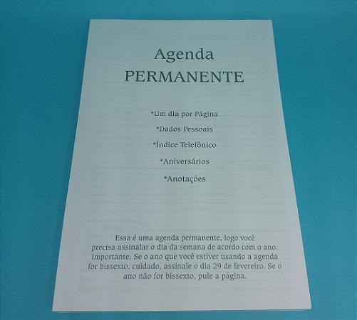 """01 Kit Agenda Executiva PERMANENTE (miolo + papelão + bolsa canguru + wire-o 2x1 1"""")"""