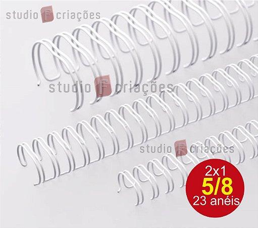 Wire-o 5/8 de polegada - Branco (com 23 aneis)