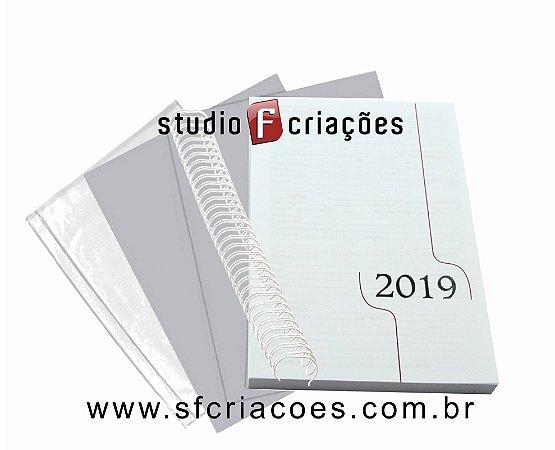 """50 Kit Agenda Executiva 2019 (miolo + papelão + bolsa canguru + wire-o 2x1 1"""")"""