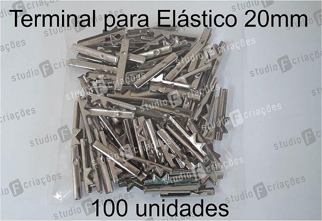 Terminal para Elastico 20mm - 100 UNIDADES