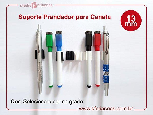 Suporte prendedor de caneta - 13mm (Pacote com 10un)