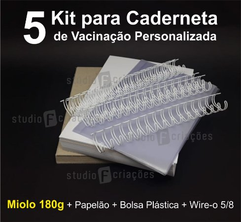 05 Kit Insumos Caderneta 180g