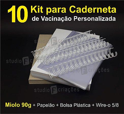 10 Kit Insumos Caderneta 90g