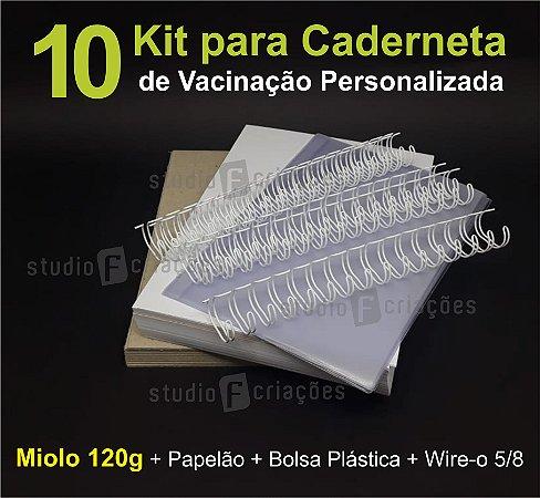 10 Kit Insumos Caderneta 120g