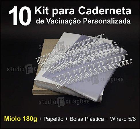 10 Kit Insumos Caderneta 180g