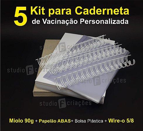 05 Kit Insumos Caderneta 90g (papelao com abas e wire-o 5/8)