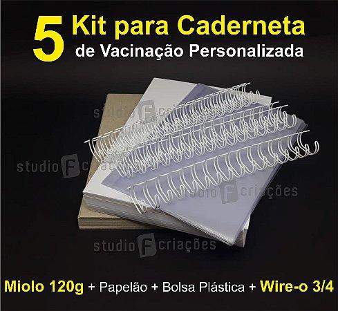 05 Kit Insumos Caderneta 120g (papelao com abas e wire-o 3/4)