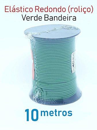 Elástico REDONDO VERDE BANDEIRA (medida 10 metros)