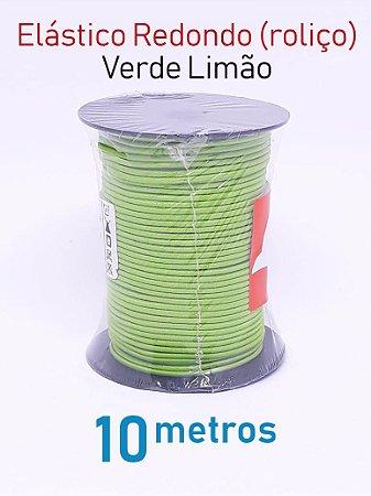 Elástico REDONDO VERDE LIMÃO (medida 10 metros)