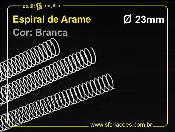 Espiral de Arame 23mm - Branco - 10 unidades