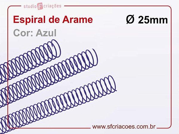 Espiral de Arame 25mm - Azul - 10 unidades