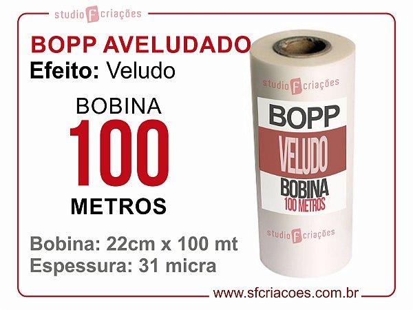 Bobina BOPP AVELUDADO 22cm x 100 metros