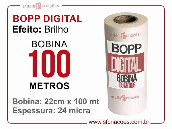 Bobina BOPP DIGITAL BRILHO 22cm x 100 metros