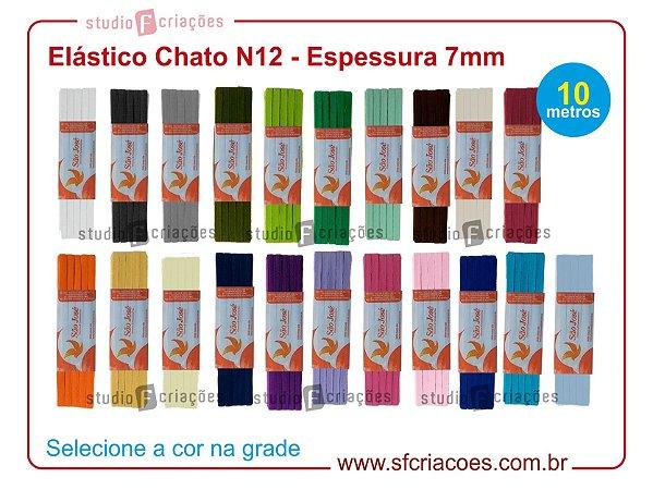 10 metros Elástico Chato - Cores