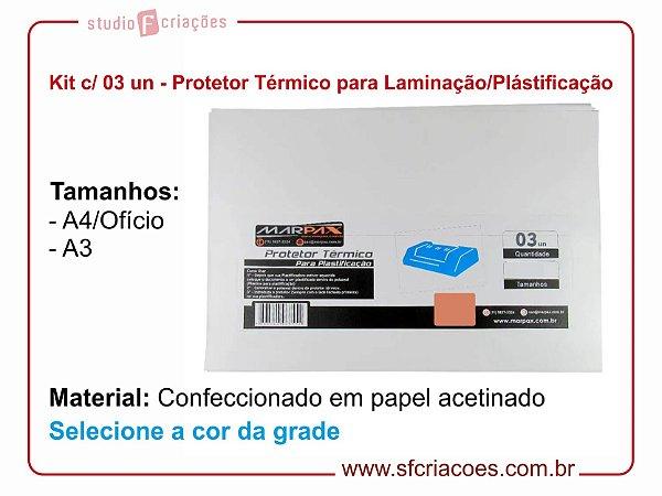 Kit c/ 03 Protetor Térmico para Laminação/Plastificação