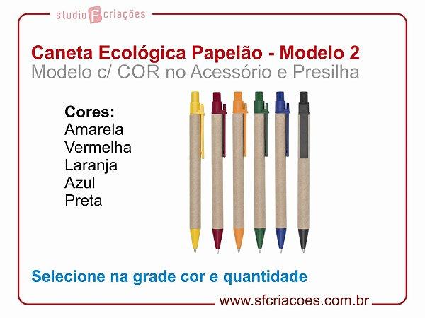 Caneta Ecologica (Papelão) - MODELO 2