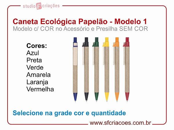 Caneta Ecologica (Papelão) - MODELO 1
