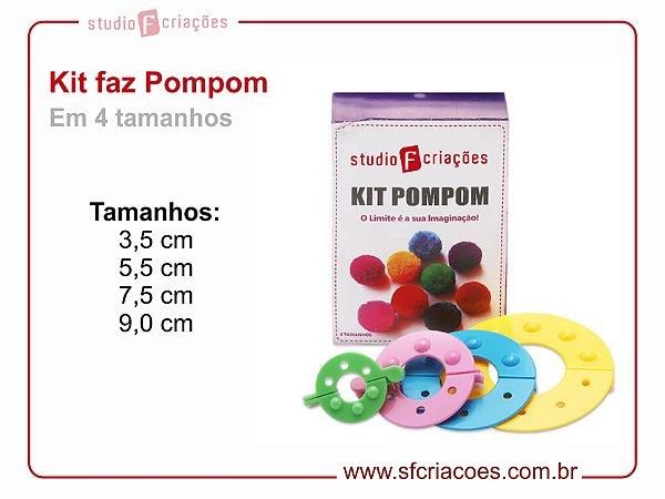 Kit Faz Pompom 4 tamanhos