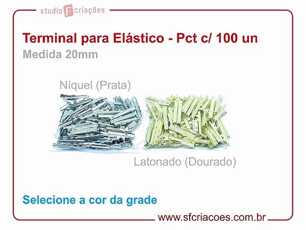 01 pct c/ 100 terminal para elástico - 20mm