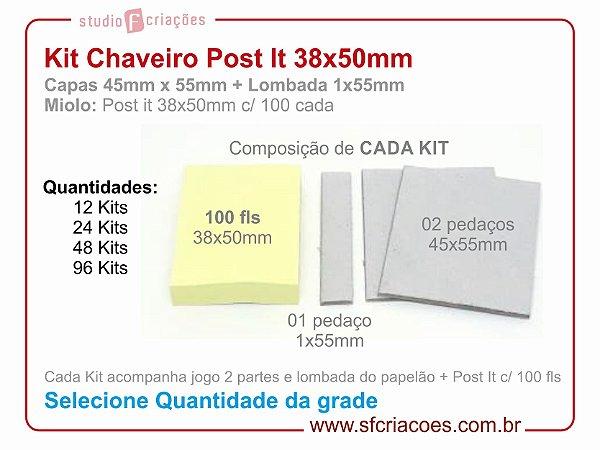 Kit Chaveiro Post It 38x50mm