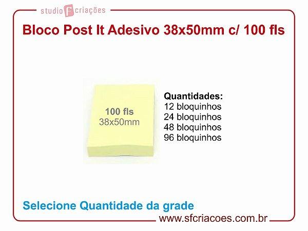 Bloco Post It Papel Adesivado 38x50mm