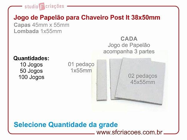 Jogo de papelão para Chaveiro Post-it 38x55mm