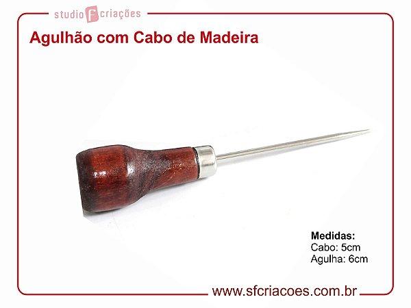 Agulhão - Furador manual com cabo de mandeira
