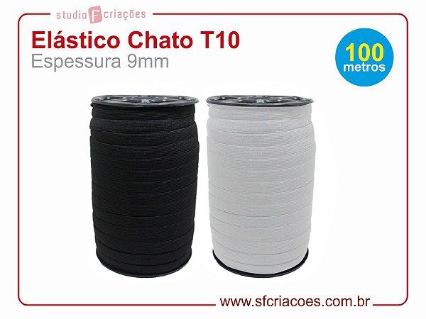 100 metros Elástico Chato T10 - 9mm