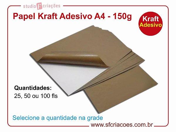 Papel Kraft Adesivo A4 - 150g