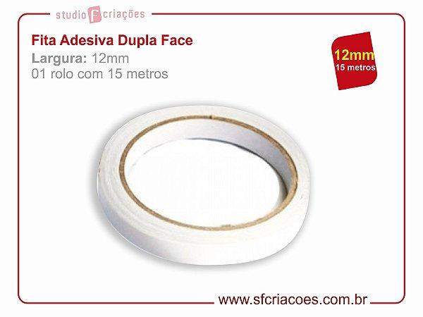 Fita Adesiva Dupla Face - Largura 12mm c/ 15 metros