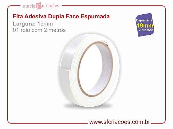 Fita Adesiva Dupla Face ESPUMADA - Largura 19mm c/ 2 metros