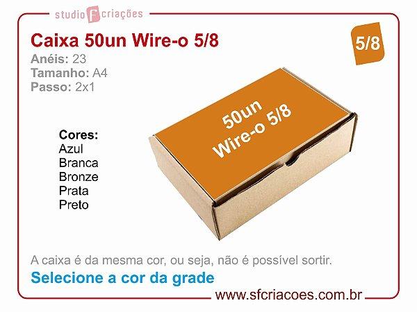 Caixa de Wire-o Passo 2: 1 - 5/8 - Selecione a cor na grade