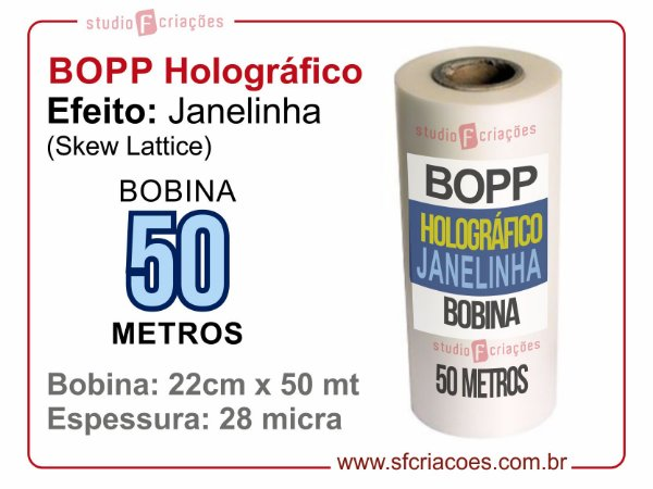 BOPP Holográfico SKEW (Janelinha)