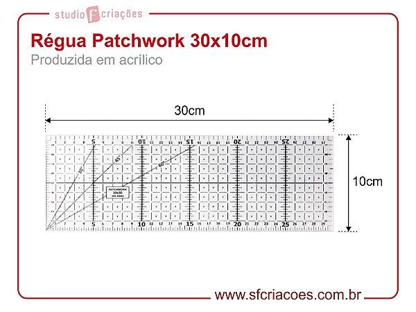 Regua Patchwork 30x10cm