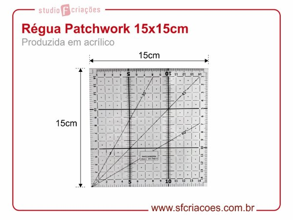 Regua Patchwork 15x15cm