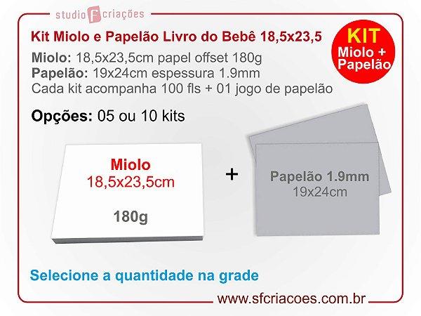Kit Livro ou Album do Bebe PV/LC - 18,5x23,5cm