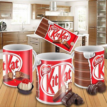 Caneca Kitkat porcelana