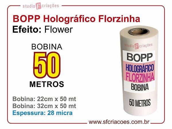 BOPP Holográfico FLOWER (Florzinha)