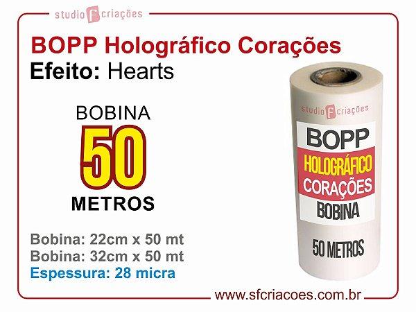 BOPP Holográfico HEART (Corações)