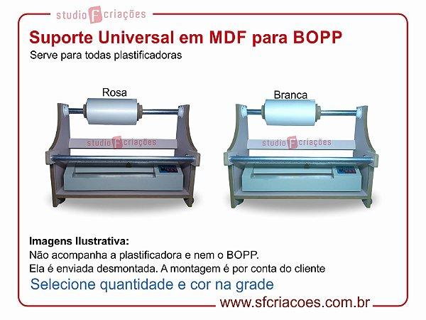 Suporte Universal uso de BOPP na plastificadora em MDF