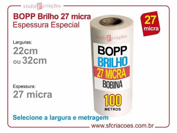 Bobina BOPP Brilho Espessura Especial - 27 micra
