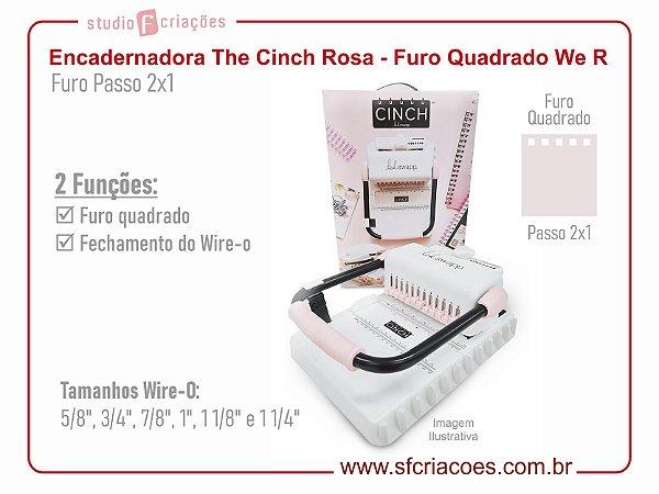 Encadernadora The Cinch Rosa - Furo Quadrado - We R