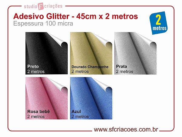Adesivo Glitter - 45cm x 2 metros