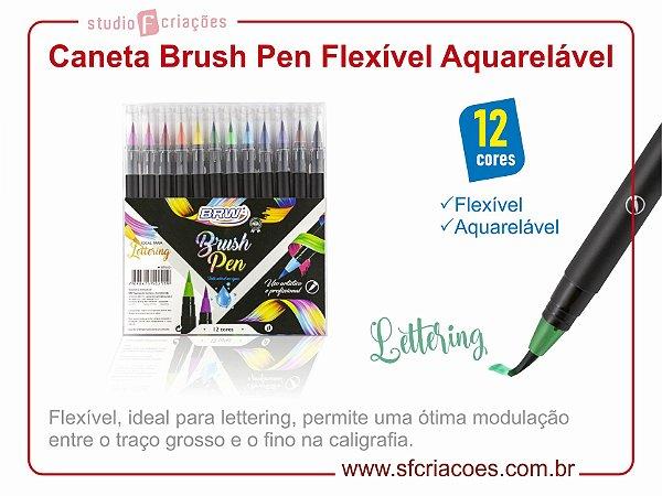 Caneta Brush Pen Aquarelável