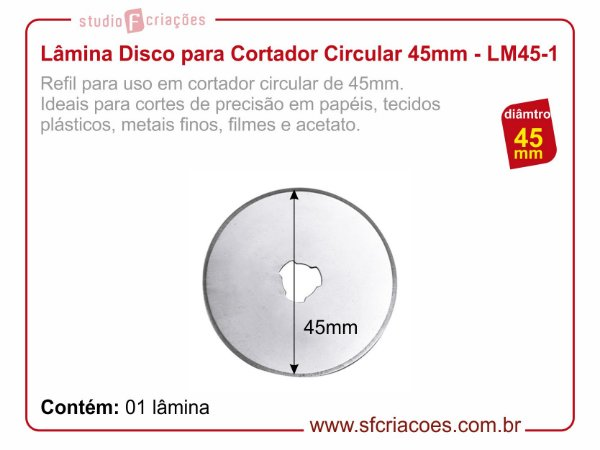 Lâmina Disco 45mm para Cortador Circular
