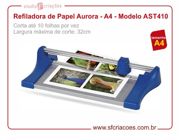 Refiladora de Papel Aurora - A4 - Modelo AST410