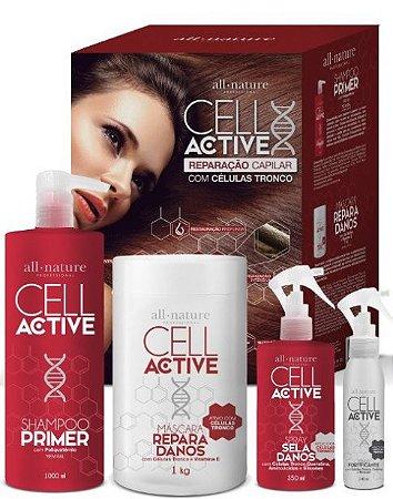Kit Cell Active Reparação Capilar com Células Tronco All Nature