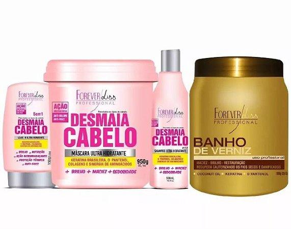 Kit Desmaia Cabelo Completo + Máscara Banho De Verniz De 1kg