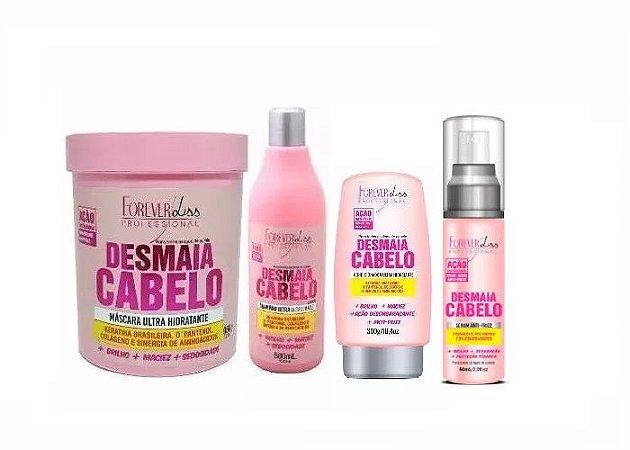 Kit Desmaia Cabelo 4 Itens Com Máscara 950g - Forever Liss